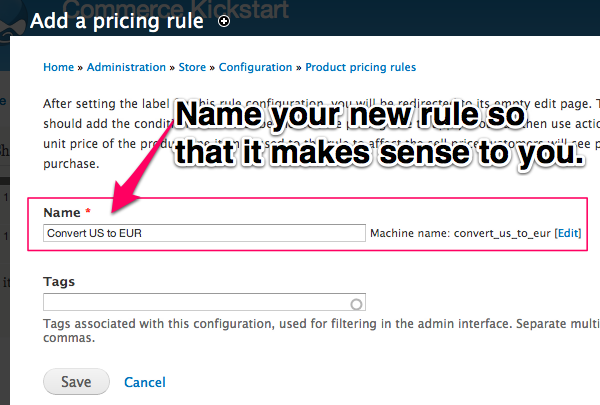 Name your new rules so that it makes sense to you.