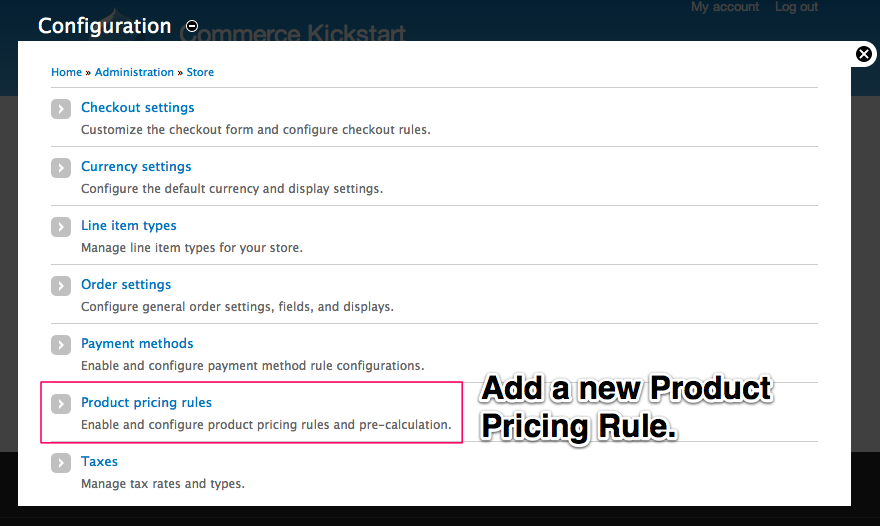 Adding a new Product Pricing Rule.