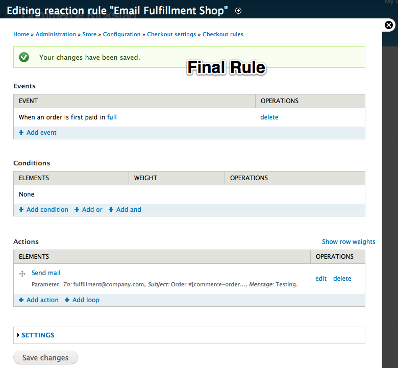 Checkout Completion Rules | Drupal Commerce documentation