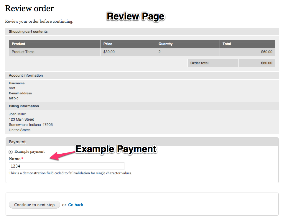 Example Payment