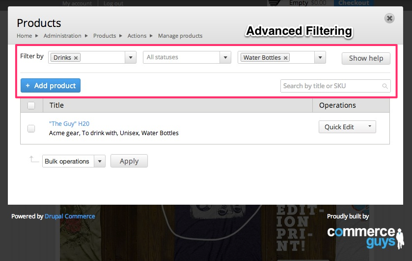 Advanced Filtering Demo