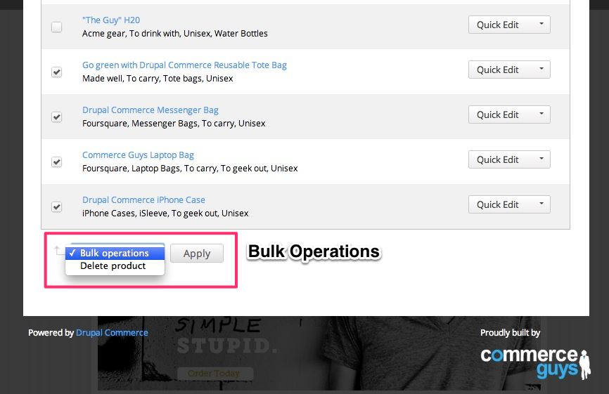 You can use the included support for Bulk Operations.