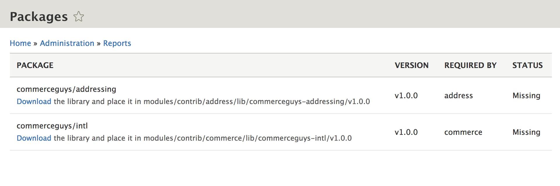 Installing   Drupal Commerce documentation