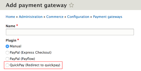 QuickPay Plugin