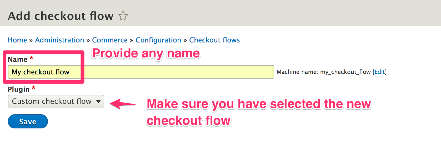 Custom checkout flow 1