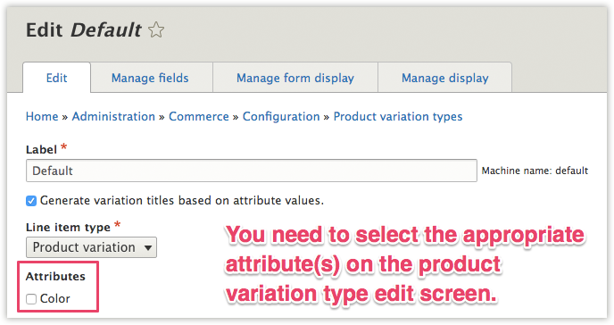 Adding Product Attribute to Product Variation