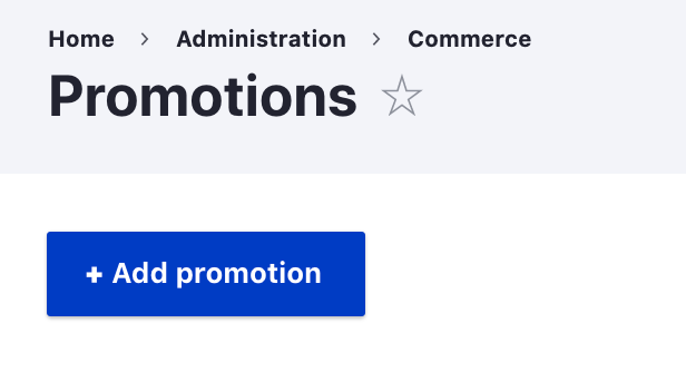 Admin ui for creating a promotion